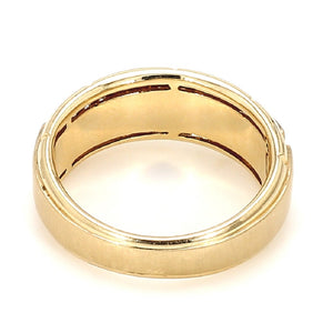 Men's 10K Yellow Gold & Diamond Wedding Band, Ring - Sz. 9¾
