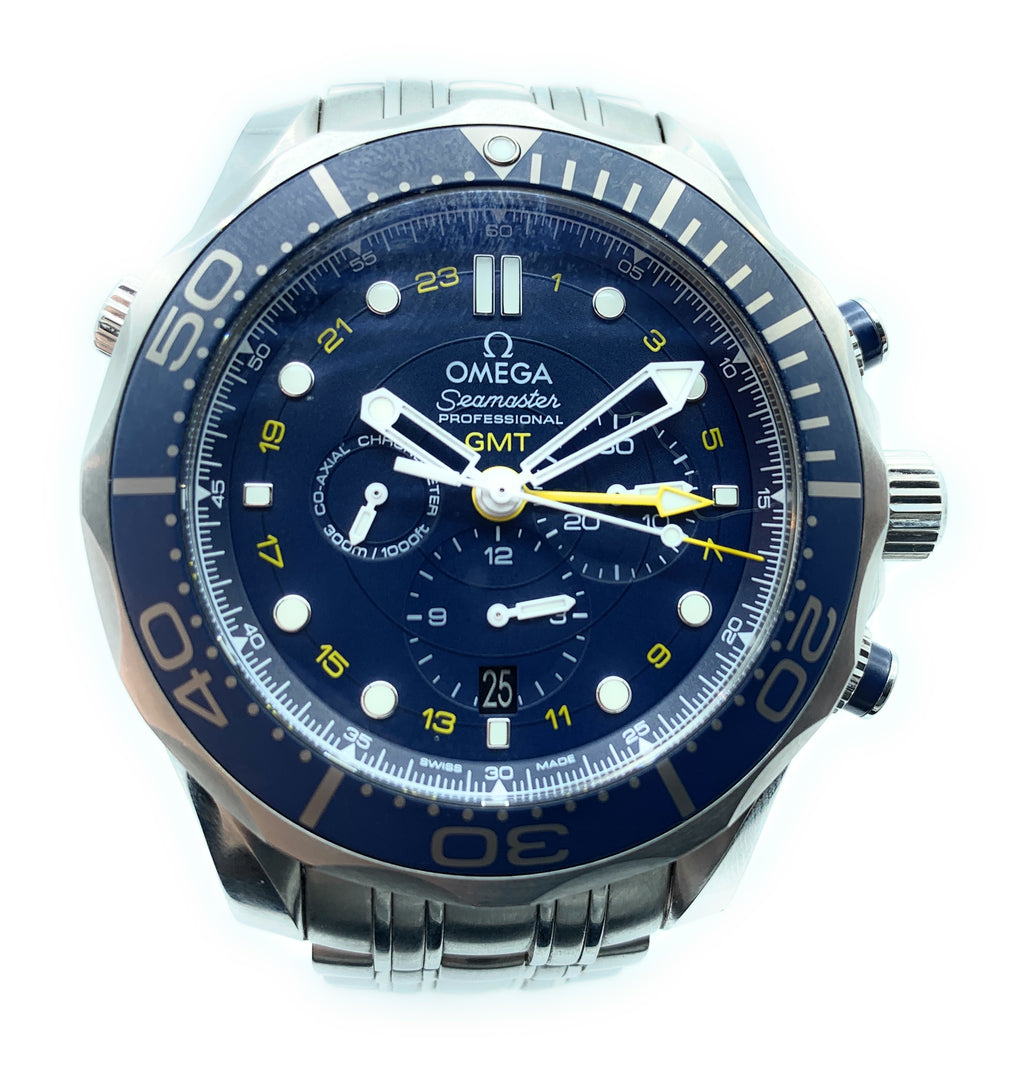 Omega Seamaster Diver Co-Axial Chronograph Stainless Steel Men's Watch