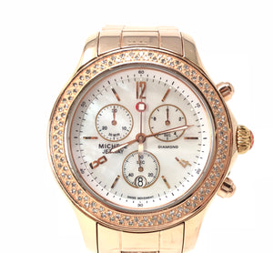 Michele Rose Gold Mother of Pearl 0.50ctw Diamond Watch MW17A01B4025