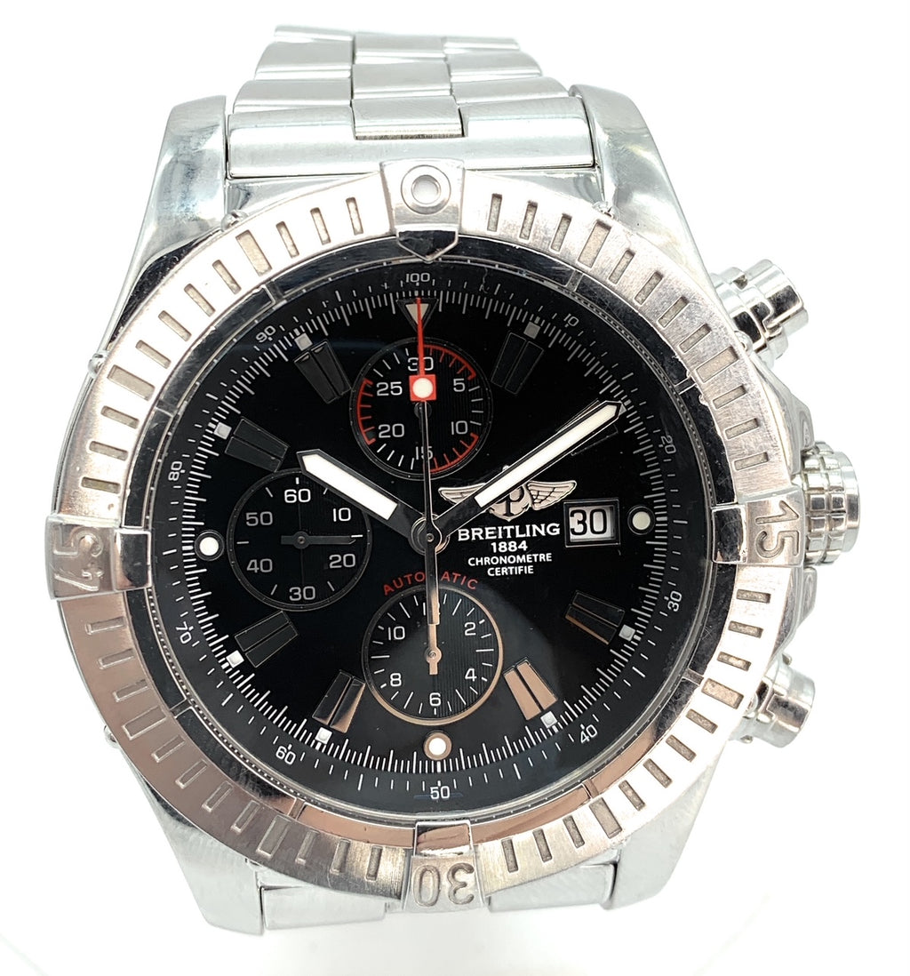Breitling Super Avenger A13370 Stainless Steel 48mm Men's Watch