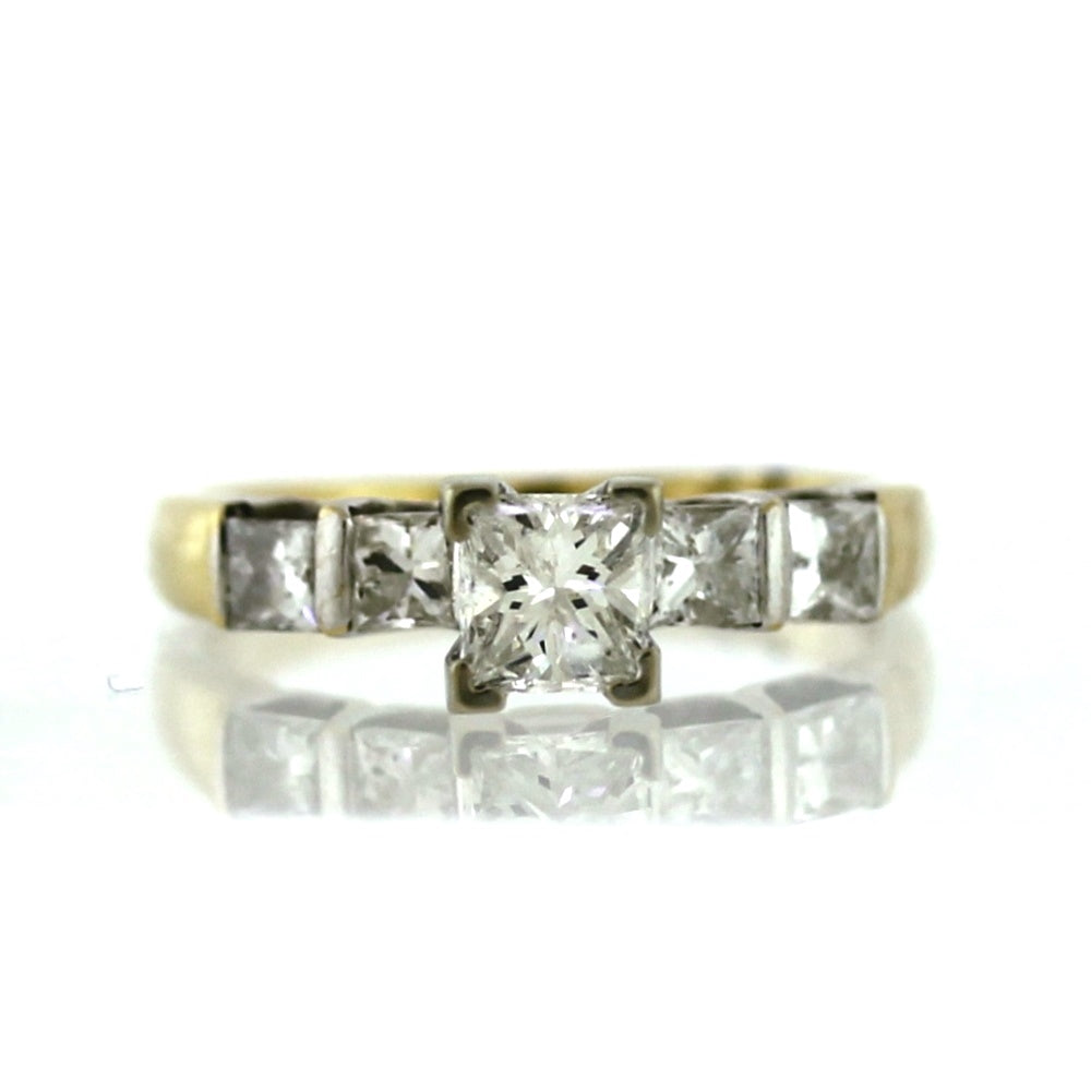 14K Yellow Gold 1.35ctw Diamond Engagement Ring - Sz. 6.75