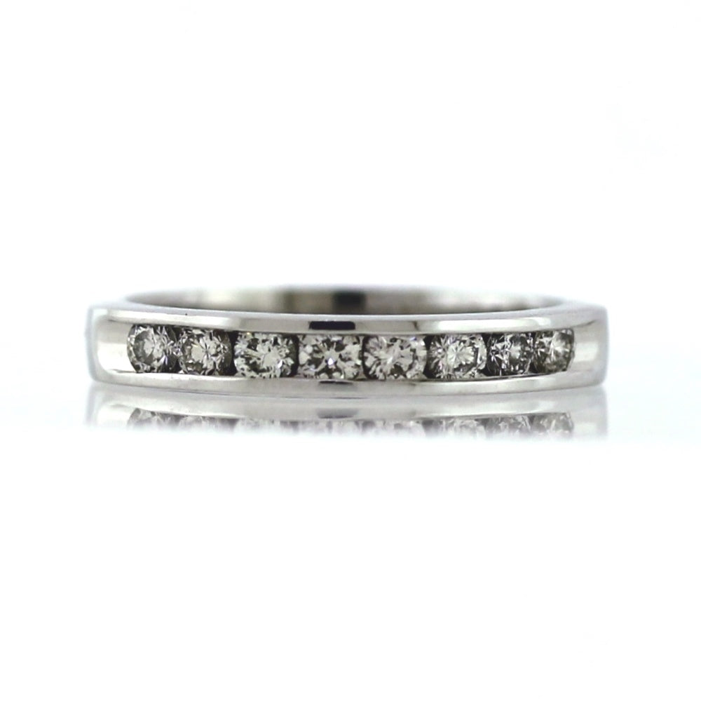 KUBER 14K White Gold 0.50ctw Diamond Wedding Band - Sz. 6.25