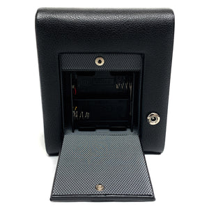 WOLF Meridian Single Watch Winder with Cover - Black