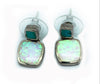 Sterling Silver Opal & Turquoise Inlay Drop Earrings