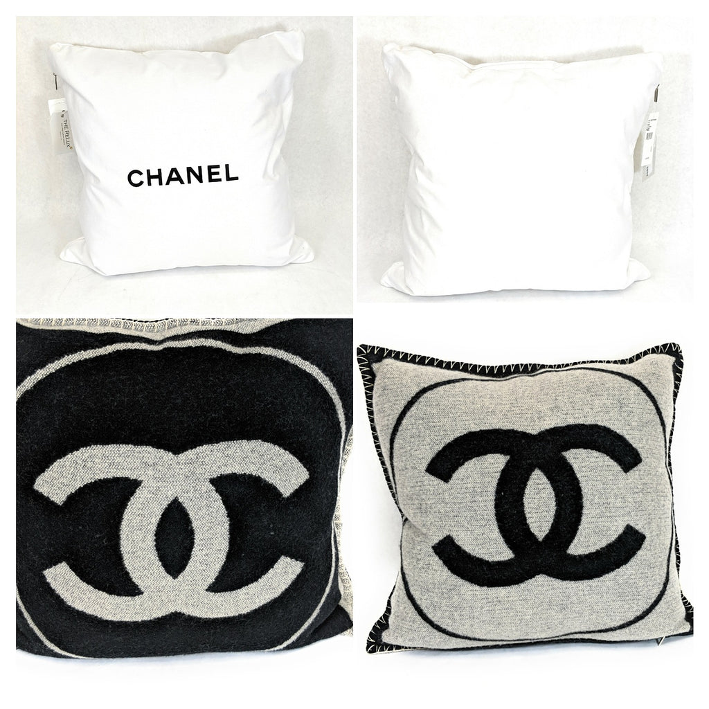 Chanel Cashmere Plush Wool Decorative Throw Pillow