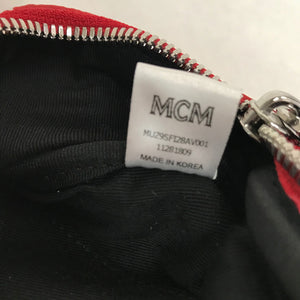 MCM Fursten Belt Bag in White Logo Visetos