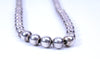 "Classic Sterling Silver Graduated Bead Ball 25"" Necklace"