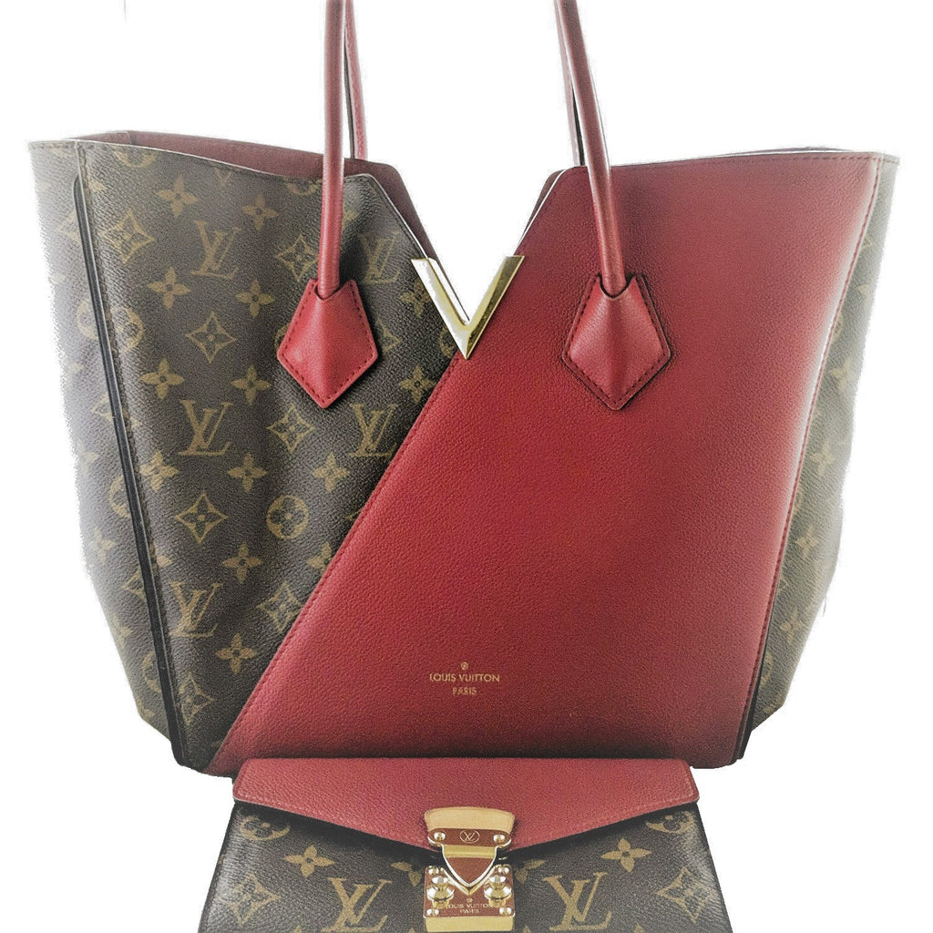 Louis Vuitton Monogram Canvas Cerise Leather Kimono Tote & Pallas Wallet