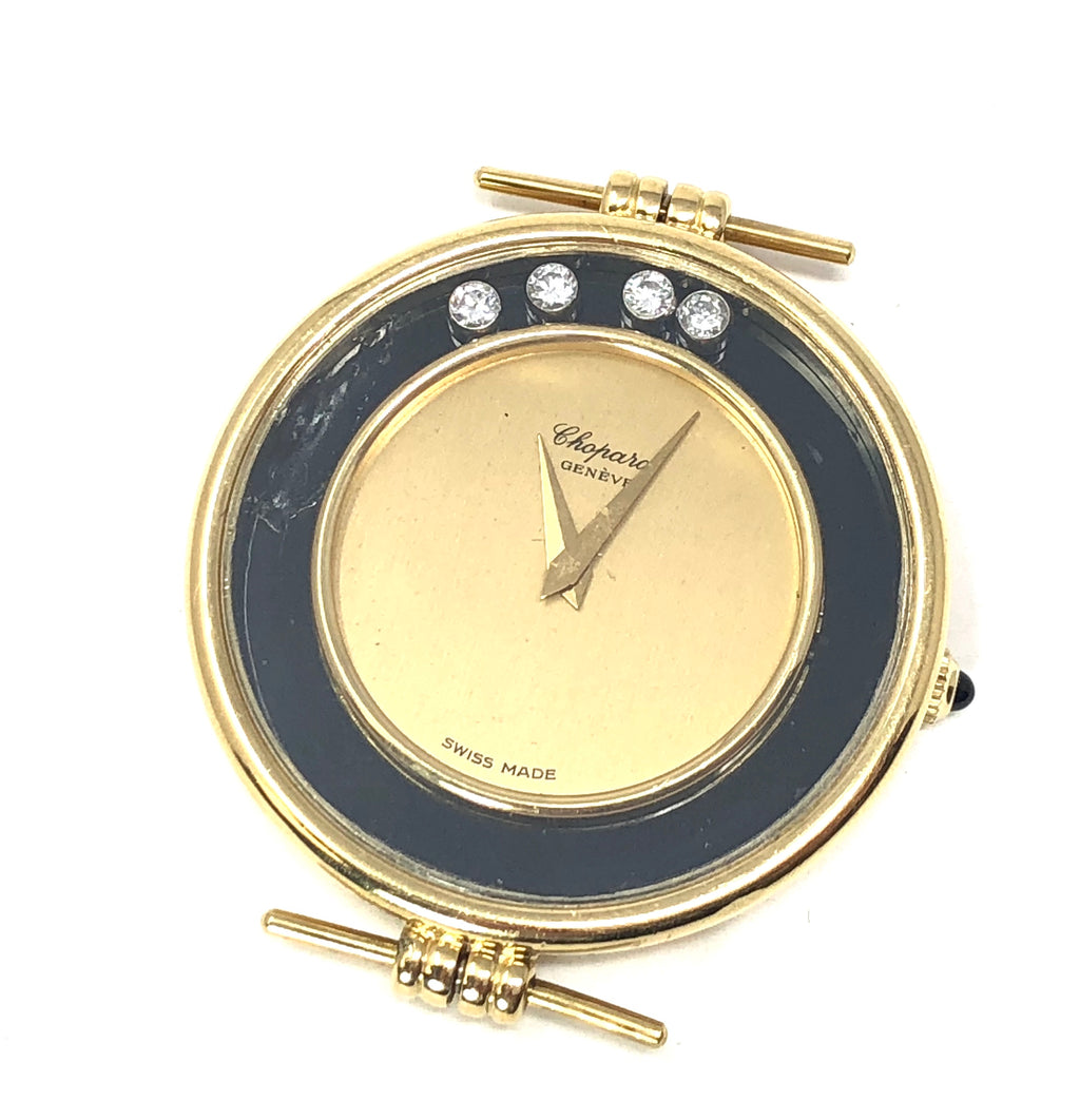 Chopard Geneve Vintage 14K Yellow Gold Round Happy Diamond Men's Watch Face Only