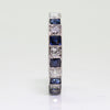 Vintage Platinum .85ctw Diamond & Sapphire Eternity Wedding Band - Sz. 6.75
