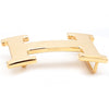 Hermes Solid 18K Yellow Gold 'H' Belt Buckle