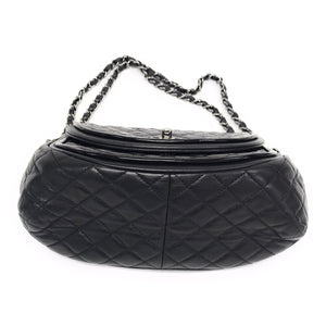 Chanel Patent Leather Classic Twist Crescent Messenger Bag