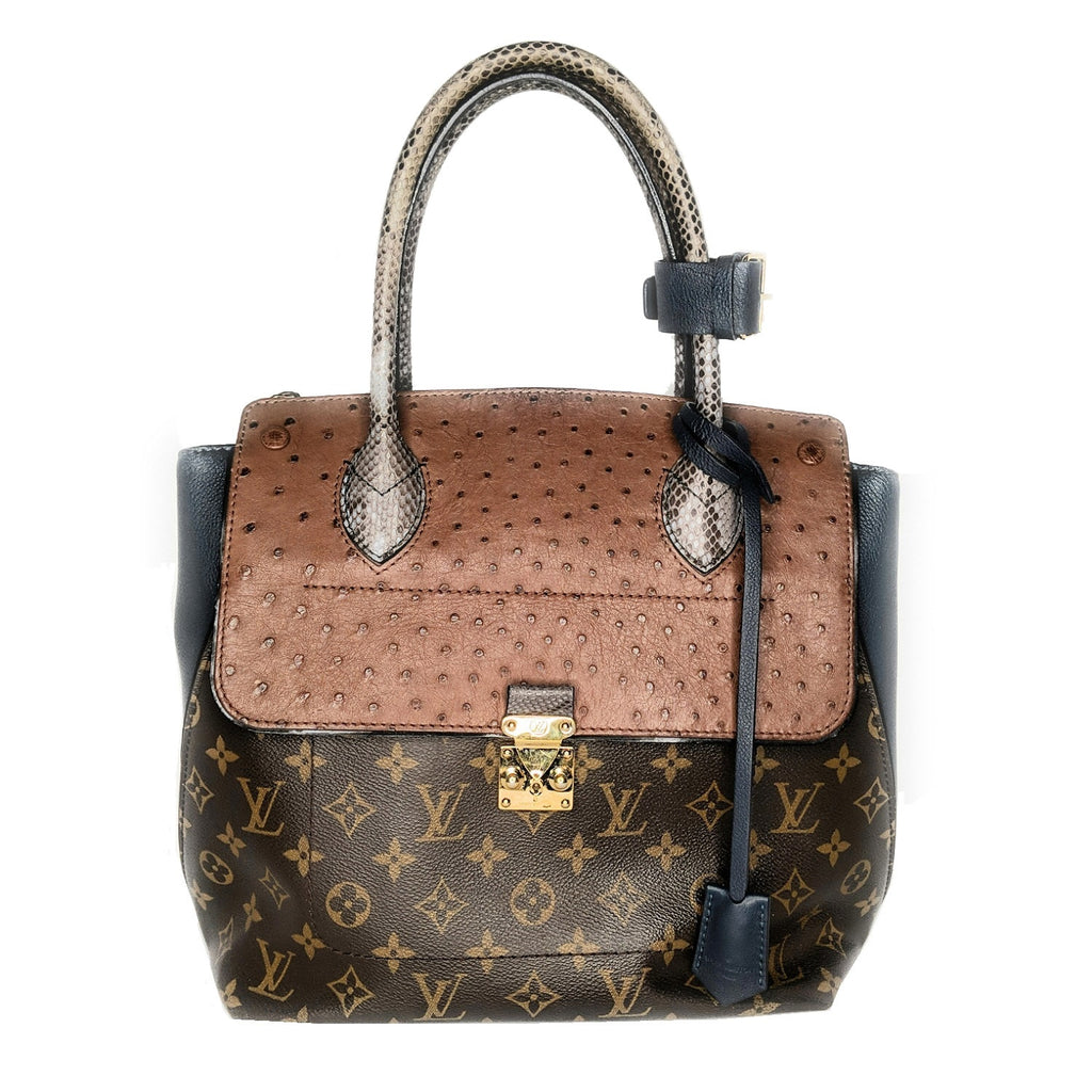 Louis Vuitton Ostrich Python Majestueux Tote MM Bleu
