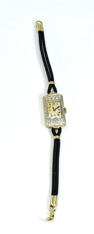 Simmons Art Deco Era Vintage Diamond Women's Watch