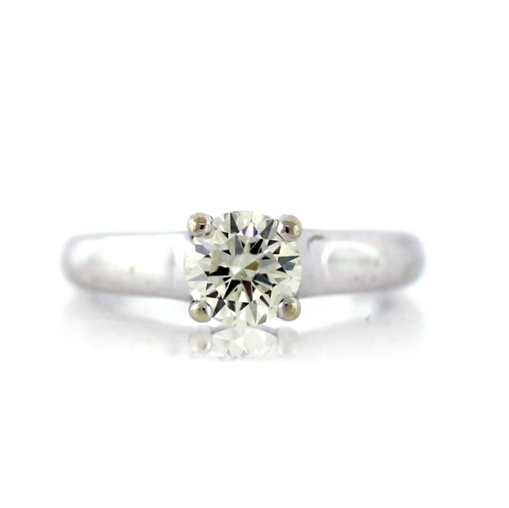14K White Gold 0.85ct Diamond Solitaire Engagement Ring - Sz. 5.75