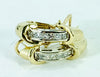 STUNNING 14K Yellow Gold 1.10ctw Princess Cut Diamond Two Tone Earrings