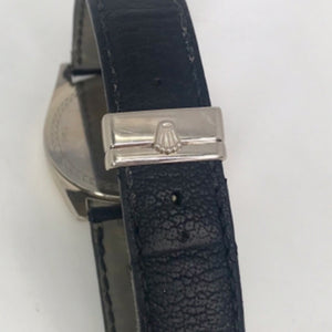 Rolex Black Cellini Danaos 18K Two-Tone, Leather strap Men's Watch, Model 4243