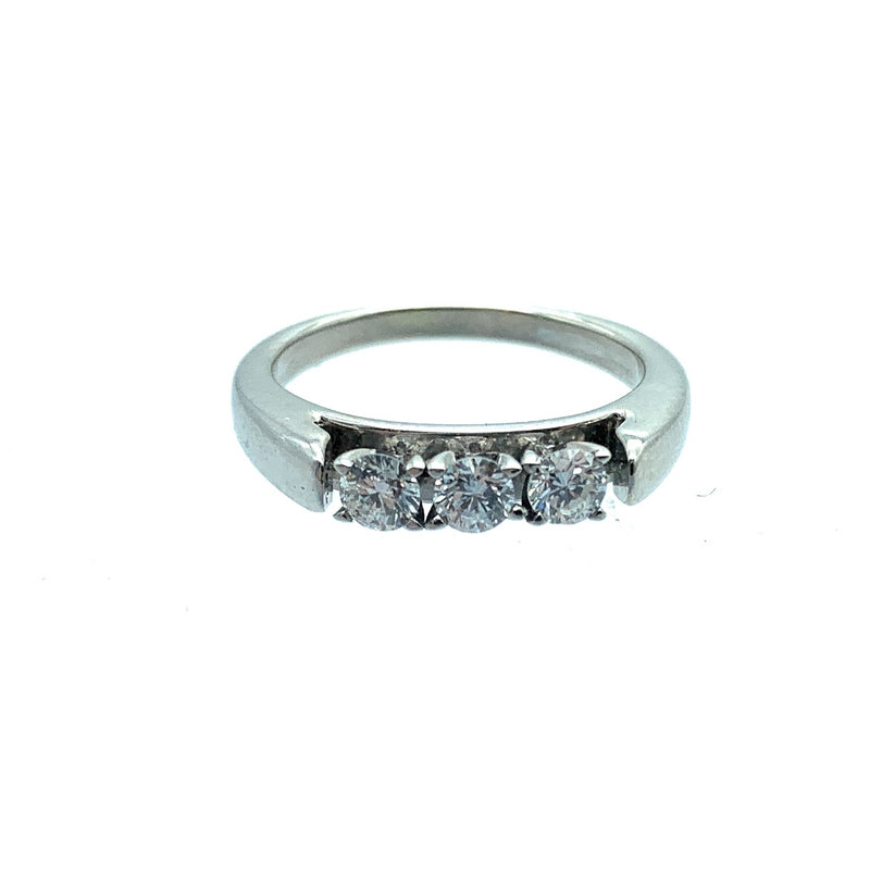 0.33ctw Diamond 14K White Gold Anniversary Ring - Sz. 4.25