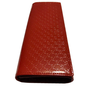 Gucci Vermillion Microguccissima Patent Leather Broadway Clutch