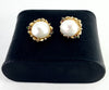 GORGEOUS Tahitian Mabe Pearl & Diamond 14K Yellow Gold Earrings