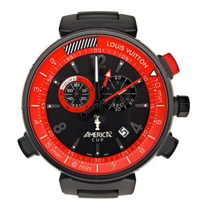 LOUIS VUITTON - Limited Edition Men's Tambour America's Cup Q101A Chronograph Watch