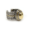 Ladies Rizzo Sterling Silver & 14K Yellow Gold Cable Ring