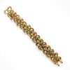 Vintage Nicolis Cola 18K Yellow Gold Heavy Braided Link Bracelet