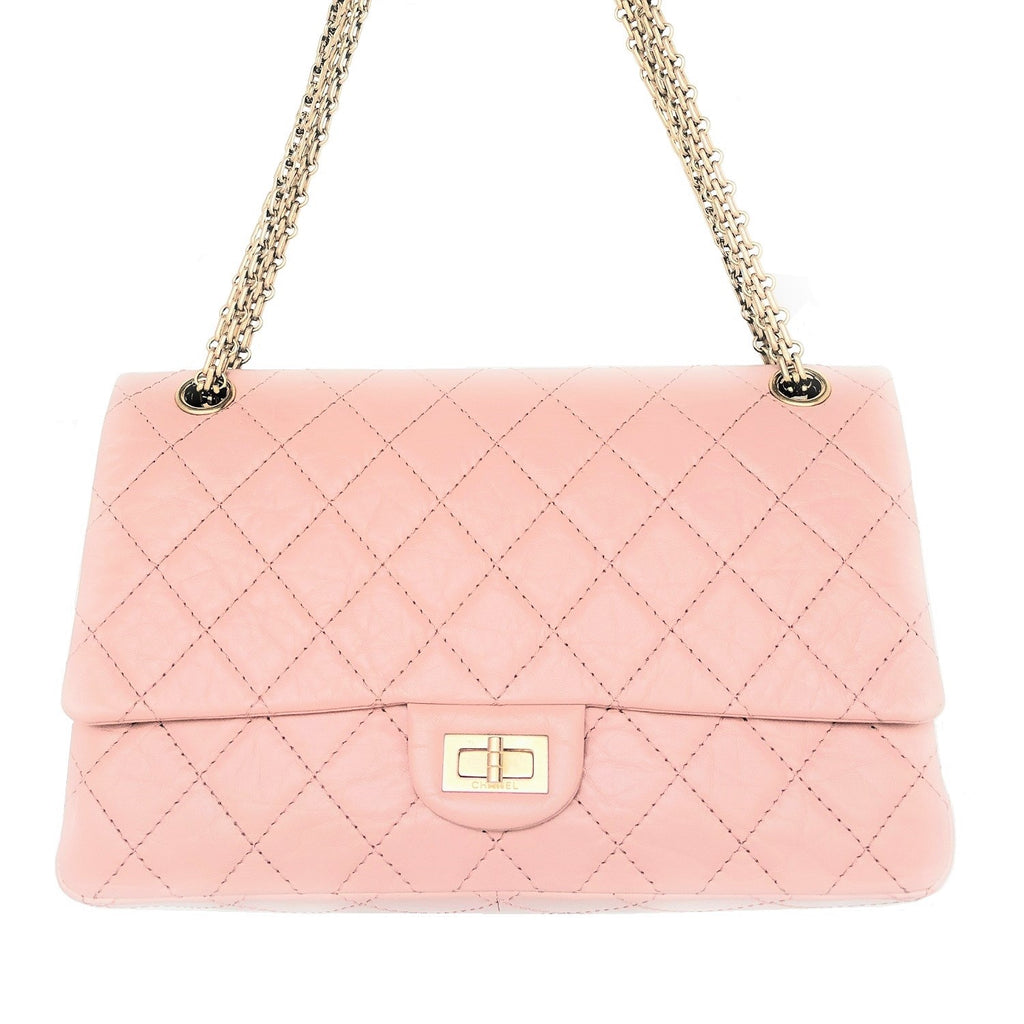 Chanel Pink Aged Calfskin Reissue 226 Double Flap Bag