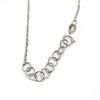 18K White Gold 1.72ctw Black & White Diamond Disc Pendant Necklace