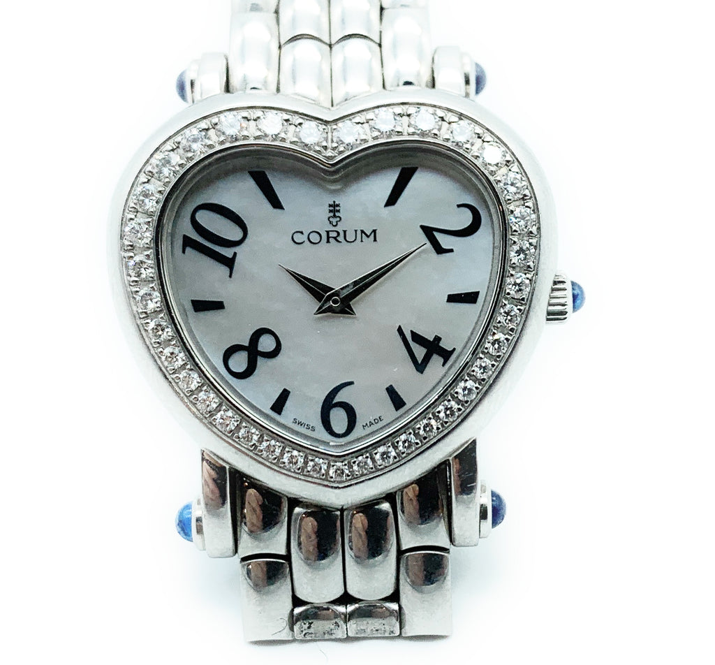 Corum Stainless Steel & Diamond Heart Shaped Ladies Watch - 24.183.20