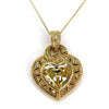 Judith Ripka 18k Gold Canary Crystal Diamond Heart Necklace