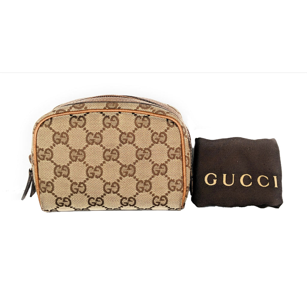 Gucci Monogram Small Horsebit Nail Cosmetic Case