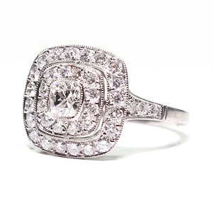 Platinum 1.15ctw Multi Diamond Princess Engagement Ring - Sz. 7.5