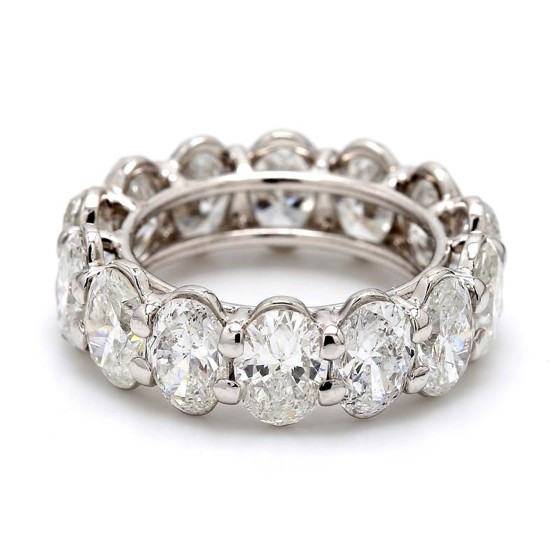 9.95CTW D-F SI2, OVAL CUT DIAMOND ETERNITY BAND - GIA CERTIFIED