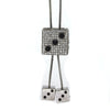 18K White Gold 5.00ctw Black & White Diamond Dice Lariat Necklace