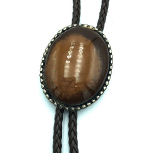 Native American SS Agate Inlay Bolo Tie, R & L Vacit Zuni Signed