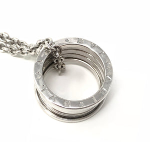 BVLGARI B-Zero1 Round Necklace 750 18K White Gold Pendant
