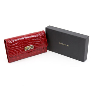 Bvlagri Red Alligator Leather Wallet