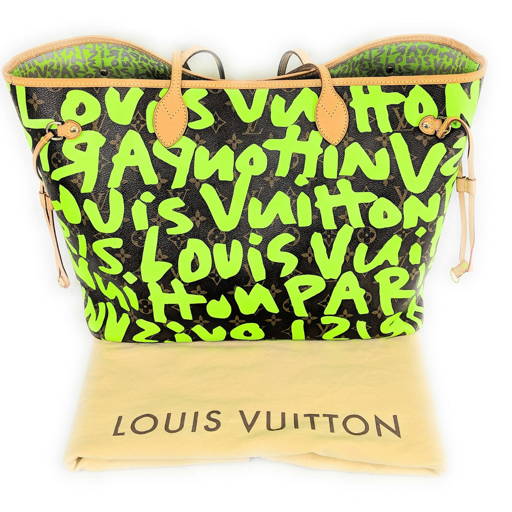 Louis Vuitton Limited Edition Green Stephen Sprouse Graffiti Neverfull GM