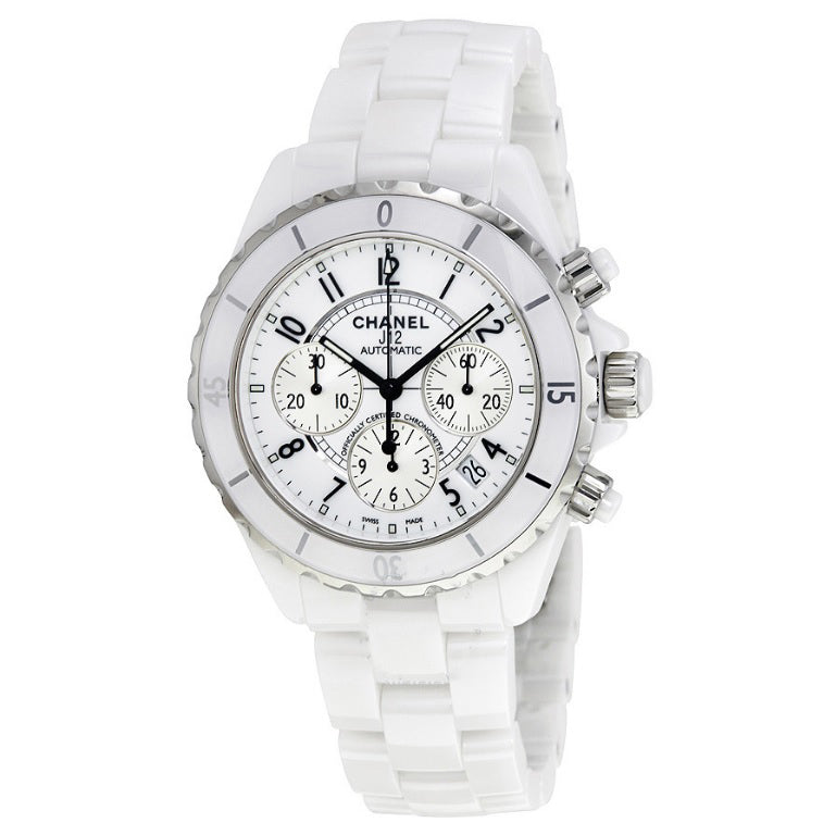 Chanel J12 White Ceramic 41mm Chronograph Unisex Watch