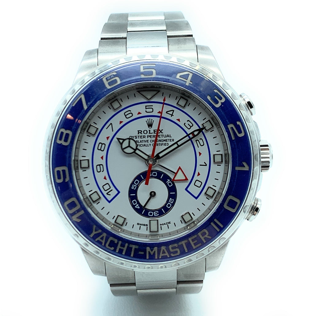 Rolex Yacht-Master II 116680 Stainless Steel Blue Bezel Mens Watch
