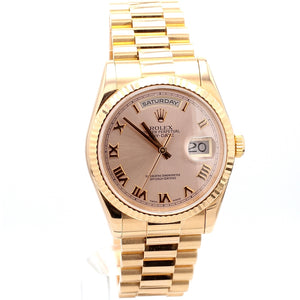 ROLEX 18K Rose Gold President Oyster Perpetual Day-Date Watch