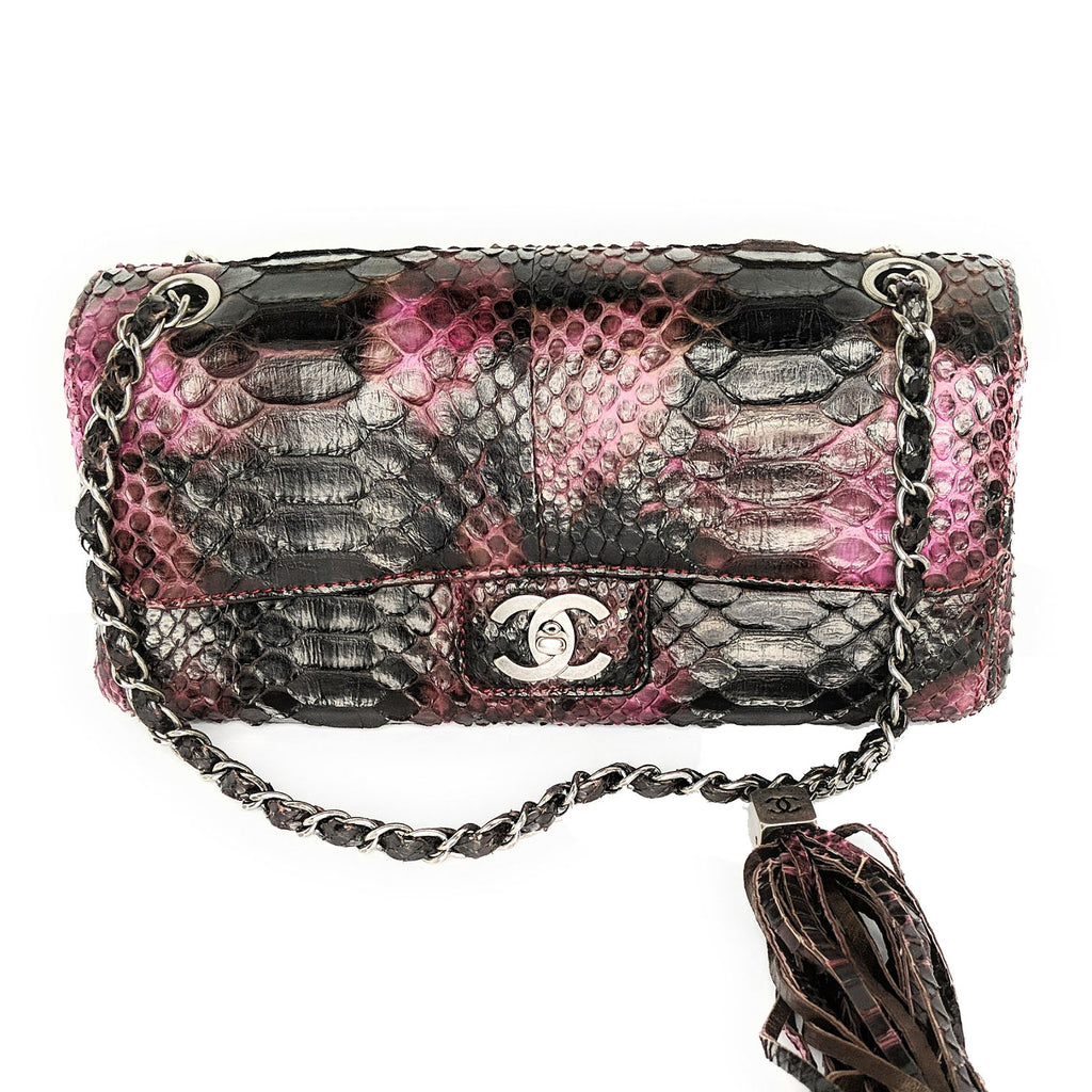Chanel Python Soho Tassel E/W Flap Bag