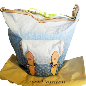 Louis Vuitton Denim Sunburst GM Messenger Ombre Blue