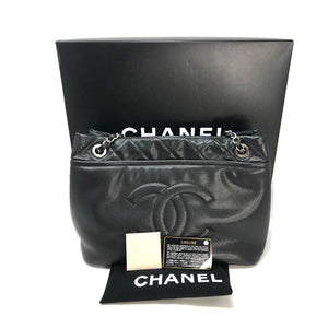 Chanel Black Caviar CC Timeless Grand Shopping Tote