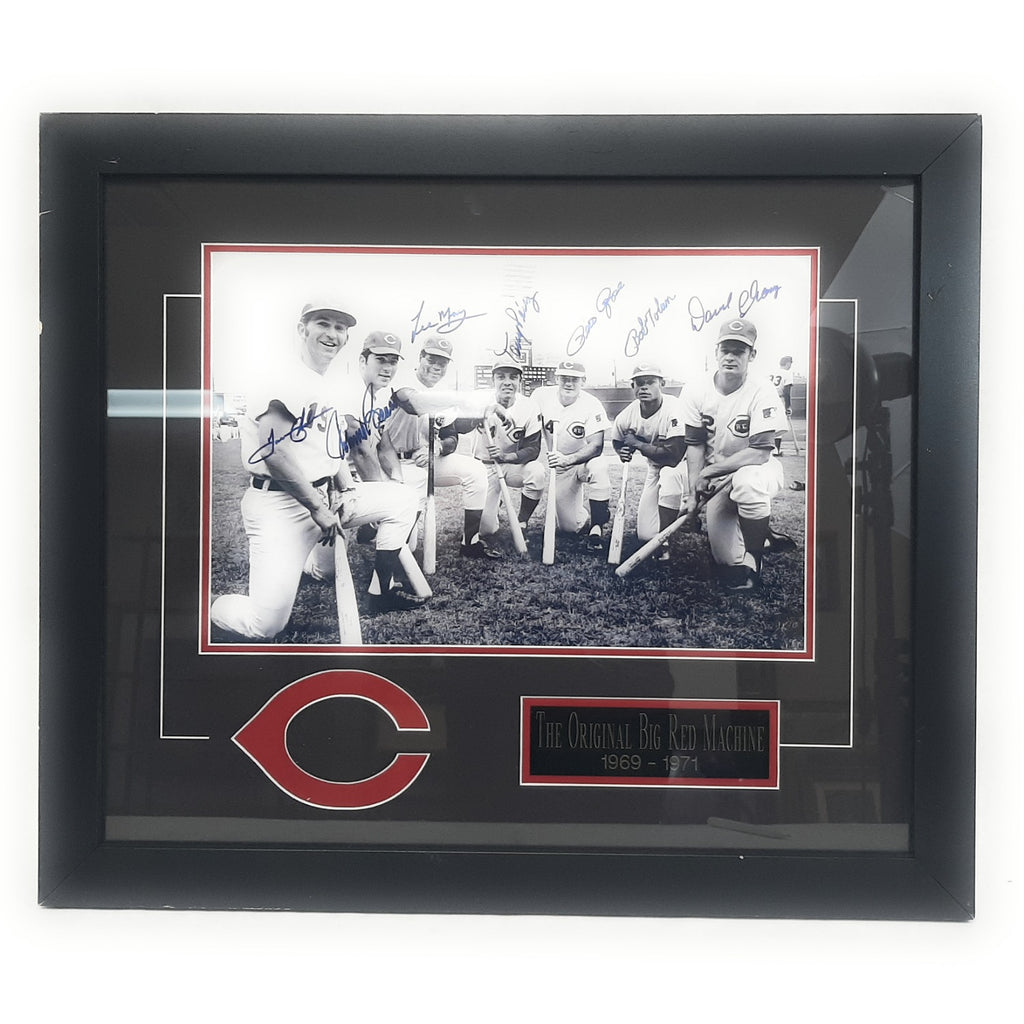 "Autographed ""Big Red Machine"" Certified Framed Photograph"