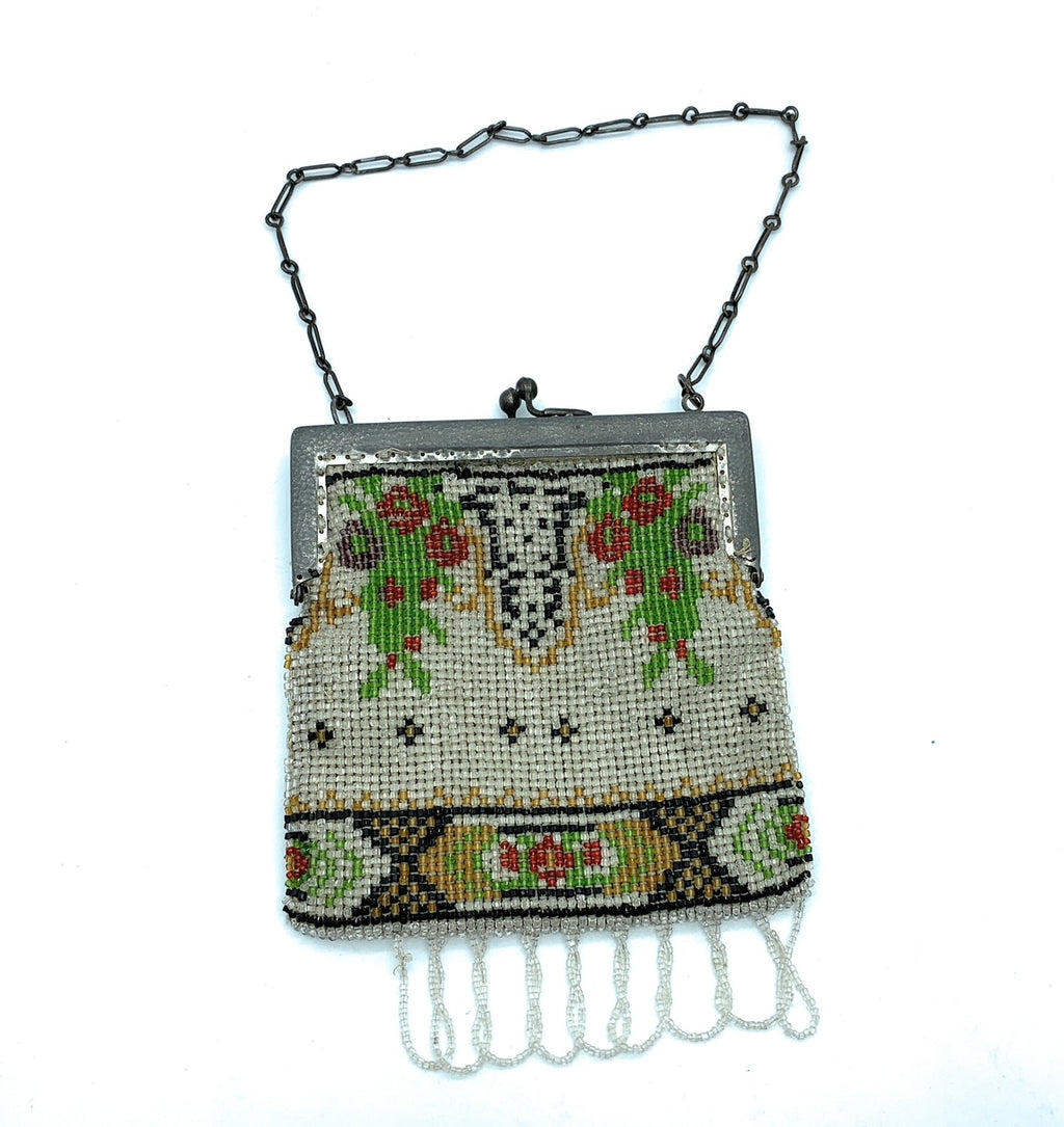 Antique Art Deco 1920's Bead Flapper Purse