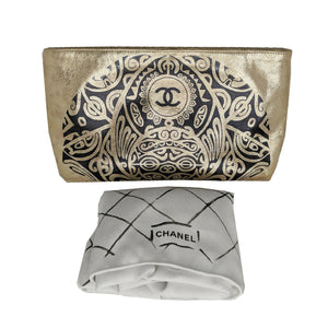Chanel Metallic Gold Paris-Bombay Metiers d'Art Clutch