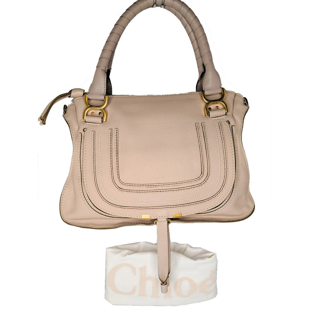Chloe Medium Abstract White Marcie Calfskin Satchel