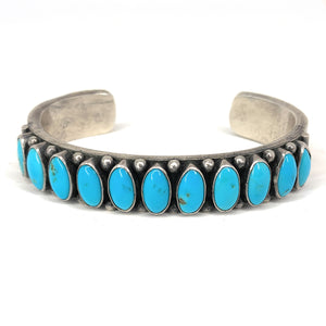 RARE Kirk Smith Navajo Sterling Silver Turquoise Cuff Bracelet